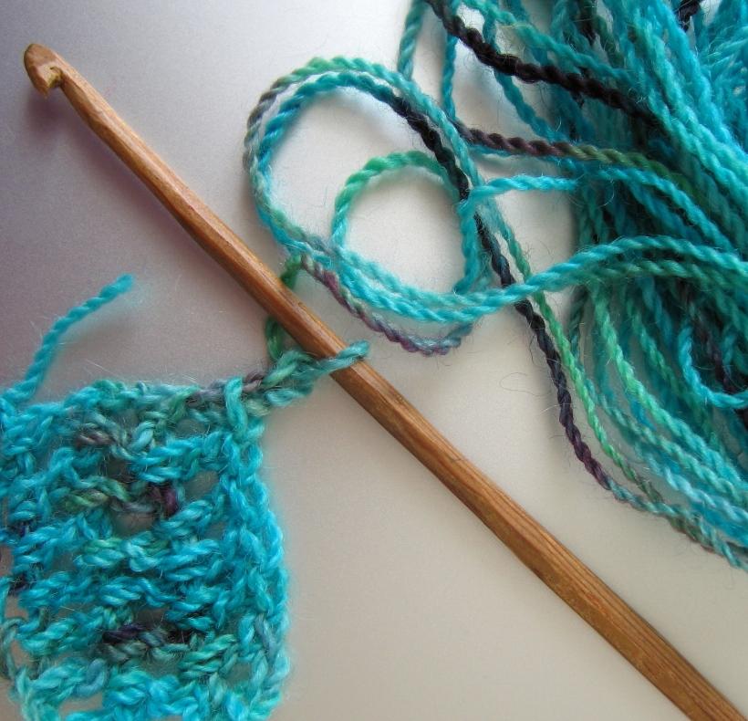 Laurie Carlson Fiber Arts wooden handmade crochet hook