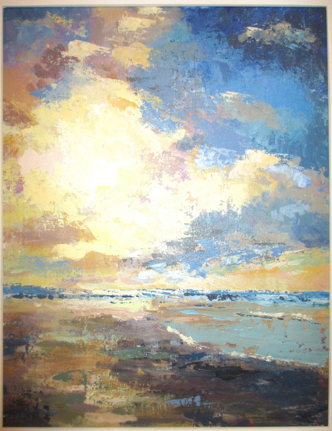 Seascape in acrylics, Lincoln City, Oregon