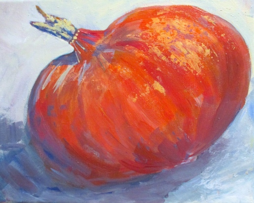 Squash painting by Laurie Carlson