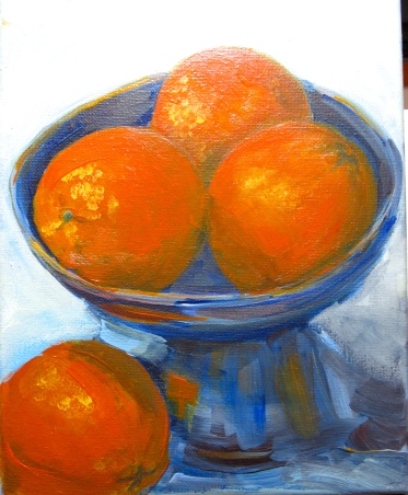 Bowl of Oranges painting by Laurie Carlson
